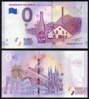 Billet Touristique 0 Euro Souvenir - MADEIRA - ENGENHOS DO NORTE - PORTO DA CRUZ - BRANCA - EURO