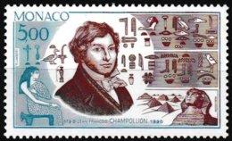 Timbre-poste Gommé Neuf** - Bicentenaire De La Naissance De Jean-François Champollion - N° 1740 (Yvert) - Monaco 1990 - Monaco