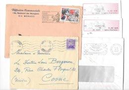 Lot Plis De Monaco Tous états Toutes Périodes - Postmarks