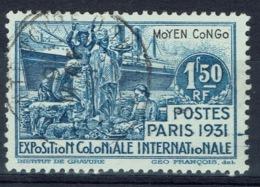 French Congo, 1f.50, Paris Colonial Exposition, 1931, VFU - French Congo (1891-1960)