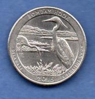 USA  -  1 / 4 Dollar 2015 -  Bombay Hook  --  état  SUP+ - Emissioni Federali