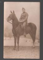 Carte Photo / Photo Card - Soldaat Te Paard / Soldier On Horseback / Soldat à Cheval - Militaria