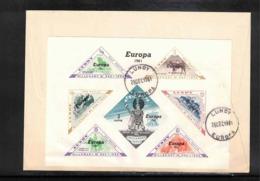 Lundy 1961 Europa Cept Block FDC - Europa-CEPT