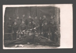 Original Photo Card / Carte Photo Originale - Soldiers / Soldats / Soldaten - Caserme