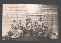 Original Photo Card / Carte Photo Originale - Le Renfort De Liège / Luik Au Camp - Caserme