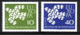DEUTSCHLAND MI-NR. 367-368 X V POSTFRISCH(MINT) EUROPA 1961 - TAUBE GERIFFELTER GUMMI - Europa-CEPT