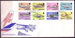 GIBRALTAR MI-NR. 432-446 FDC FLUGZEUGE - Gibilterra