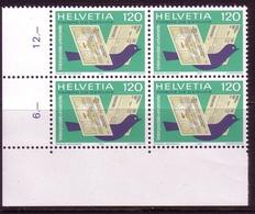 SCHWEIZ UPU MI-NR. 14 POSTFRISCH(MINT) 4er BLOCK BRIEFTAUBE 1983 - U.P.U.