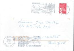 """Curiosité : 2 Flammes """"tête-bêche"""" Labenne, Côte Sud Des Landes Du 4/10/2004 Sur La Même Lettre Vers La Belgique - Marcophilie (Lettres)"""