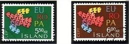 ISLAND MI-NR. 354-355 O EUROPA 1961 - TAUBE - Europa-CEPT