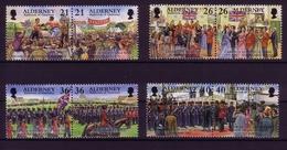 ALDERNEY MI-NR. 158-165 POSTFRISCH HISTORISCHE EREIGNISSE TRUPPENPARADE BOXEN 2000 - Alderney