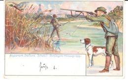 Bavaria - Bayern - Stationery - Duck Hunting - Hunter - Hunting Dog, Mallard - Angler - Angling - Fishing - Timbres