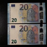 EURO AUSTRIA 20 NA N004 N005 CIRCULATED SEE IMAGE - EURO