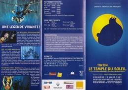 Tintin. Le Temple Du Soleil. Didier Van Cauwelaert. D'après L'oeuvre De Hergé - Publicidad