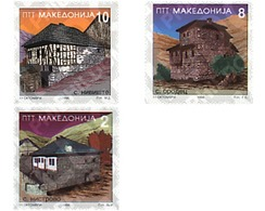 Ref. 31073 * MNH * - MACEDONIA. 1996. TYPICAL HOUSES . CASAS TIPICAS - Macedonia
