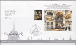Great Britain FDC 2008 St. Pauls Cathedral Souvenir Sheet   (NB**LAR8-53) - FDC