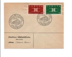 CONSEIL DE L'EUROPE STRASBOURG 1963 - Marcophilie (Lettres)