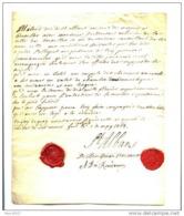 1763 - NOBLESSE -  DUC DE ST ALBANS - RETOUR A BRUXELLES - DU VIEUSART - DU RONDEAU - Autographes