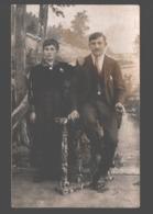 Originele Fotokaart / Carte Photo Originale - Koppel / Couple - Portrait / Portret - Photographe H. Weber, Aywaille - Fotografia