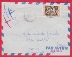 Republique Malgache Cachet ; Obitération 1959 Diégo Suarez.Sur Lettre N° 331 Seul ; Pour Nancy - Madagascar (1889-1960)