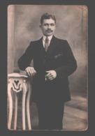 Originele Fotokaart / Carte Photo Originale - Man / Homme - Portrait / Portret - Phot. Vanderplancq Braine L'Alleud - Fotografia