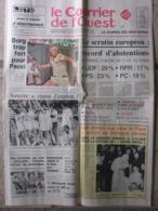 Journal Le Courrier De L'Ouest (11 Juin 1979) Scrutin Européen - R Garros Borg - Foot Auxerre - 24 Heures Du Mans - 1950 - Nu