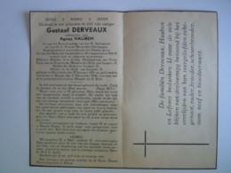 Doodsprentje Gustaaf Derveaux Moorslede 1881 Rekem 1946 Gendarme Oudstrijder Oorlogsinvalied 1914-18 Echt Agnes Hauben - Devotieprenten