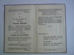 Doodsprentje Charles Heylen Geel 1894 Hasselt 1951 Oudstrijder Oorlogsinvalied 1914-18 Echt Jeanne De Smackers - Imágenes Religiosas