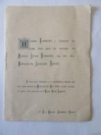 Faire Part De Mariage Ancien En L'Eglise Saint Augustin à Colombes - 1902 - Boda