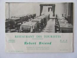 """Dépliant Publicitaire Ancien Du """"Restaurant Des Touristes"""" à Beauvoir Sur Mer - Pubblicitari"""