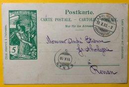 9150 -  Jubilé UPU Bienne 19.10.1900 Pour Renan - Entiers Postaux