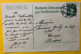 9152 -  Le Brassus 25.11.1914 - Entiers Postaux