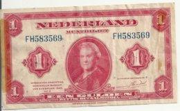 PAYS-BAS 1 GULDEN 1943 VF P 64 - 1 Gulden