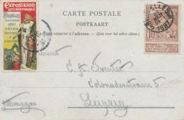 249/30 - VIGNETTES Belgique - Exposition Internationale BRUXELLES TERVUEREN 1897 S/ Carte Litho + TP Exposition - Universal Expositions