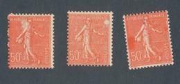 FRANCE - N°YT 199X3 NEUFS* AVEC CHARNIERE POUR ETUDE DES VARIETES - 1924/32 - Curiosités: 1921-30 Neufs