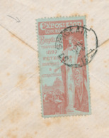 250/30 - VIGNETTES Belgique - Exposition Internationale BRUXELLES TERVUEREN 1897 S/ Enveloppe Paire TP Exposition - Weltausstellung