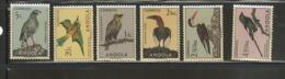 ANGOLA 1966, BIRDS, #333; 336; 338; 340; 343; 345; MNH - Angola