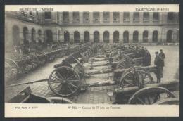 +++ CPA - Militaria - Musée De L'Armée - Canons De 77 Pris Sur L'ennemi - Campagne 1914-15 - Guerre - Cachet Caritas // - Ausrüstung