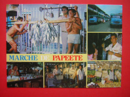 CPM MARCHE DE PAPEETE MULTI VUES  TAHITI    VOYAGEE - Tahiti