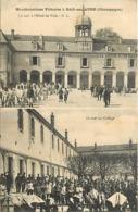 -dpts Div-ref-AN498- Aube - Bar Sur Aube - Manifestations Viticoles -2 Vues 103e à L Hotel De Ville Et Au Collège - Vins - Bar-sur-Aube