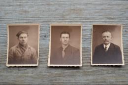 3 Portraits D'hommes - H. Becker Molenbeek - Personnes Anonymes