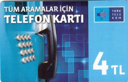 TURKEY - Tüm Aramalar İçin Arama Kartı , Nisan 2016, Siemens - S35 (Module 35) , 4 ₤ - Turkish Lira ,11/14, Used - Turquie