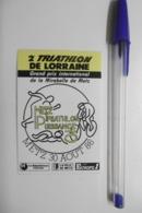 Autocollant Stickers - 2è Triathlon De LORRAINE Grand Prix De La Mirabelle De METZ Avec Médias EUROPE 1 Et Le Républicai - Aufkleber