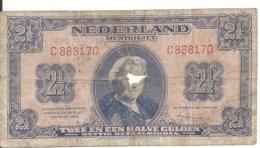 PAYS-BAS 2 1/2 GULDEN 1945 VG P 71 - [2] 1815-… : Regno Dei Paesi Bassi