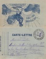 CARTE-LETTRE. COQ VICTOIRE. 15 9 16. TRESOR ET POSTES 166 POUR LA LOIRE - Poststempel (Briefe)
