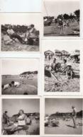 LOT 18 ANCIENNES PHOTOS BORD DE MER PLAGE - Lugares
