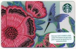 IRELAND - IRLANDE - IRLAND - IRLANDA STARBUCKS CARD FLOWER COLIBRI BIRD MINT UNUSED - Gift Cards