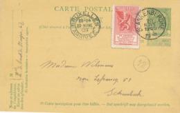253/30 - VIGNETTES Belgique - 25 Ans De Prospérité 1884/1909 - Entier Postal Armoiries BLANKENBERGHE 1909 Vers BXL - Stamped Stationery