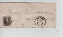 CBPN47/ TP 6 Margé 2 Voisins S/LSC C.Bruges 5/5/1858 > Lisseweke (Lissege) C.Blanberghe D'arrvée  6/5/1858 - Postmark Collection