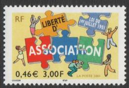 France Neuf Sans Charnière 2001  Loi De 1901 Association Institutions   YT  3404 - Neufs
